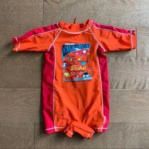 2/$10 SOURIS MINI Baby boys swimsuit 6-9m